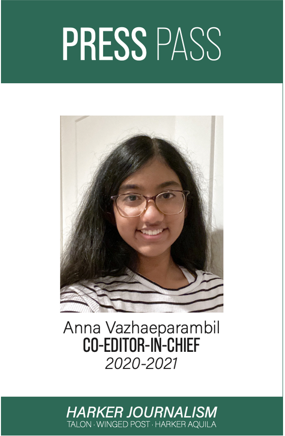Anna Vazhaeparambil from The Harker School in San Jose is California's Student Journalist of the Year and will represent the state in the national level. Vazhaeparambil is editor-in-chief of the Aquila online news site.